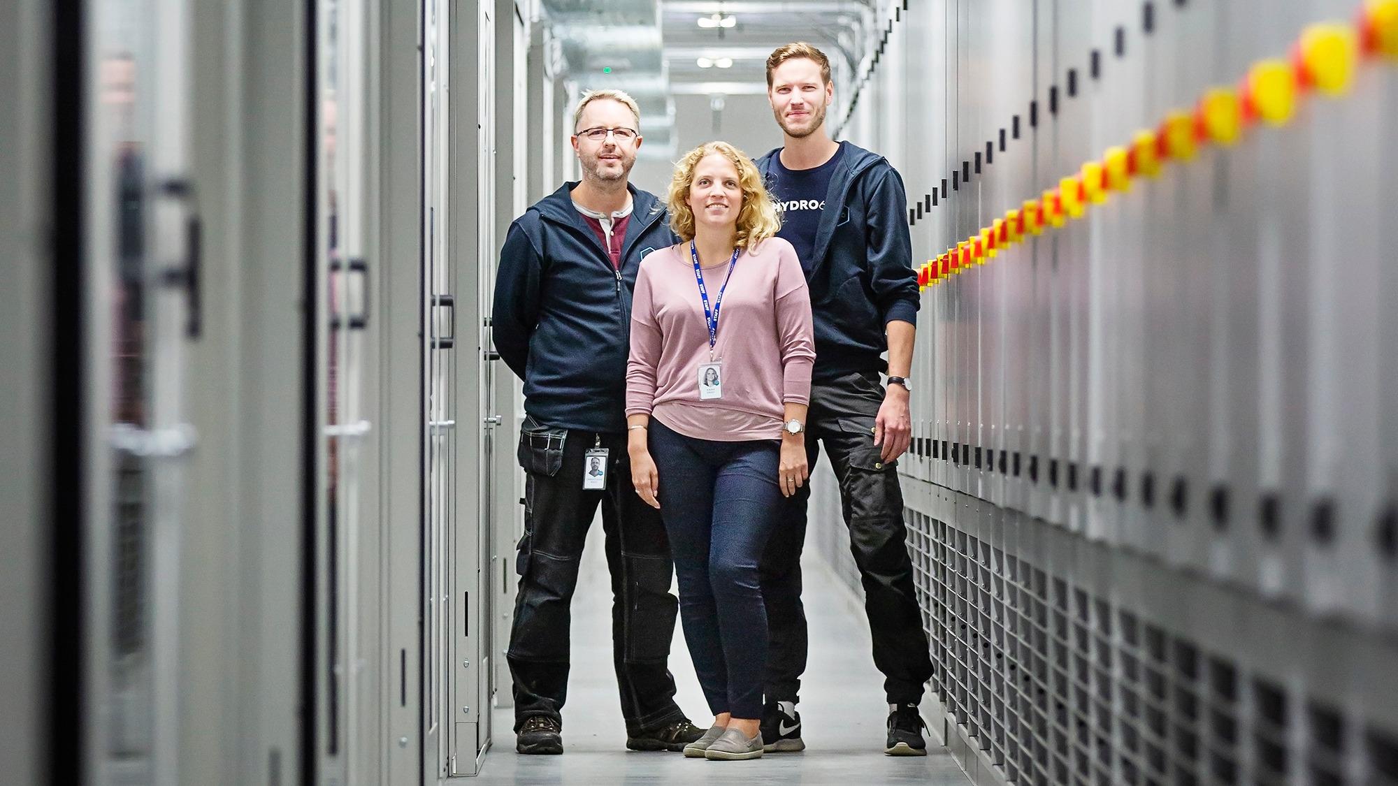 Anne Graf och hennes medarbetare på Hydro66