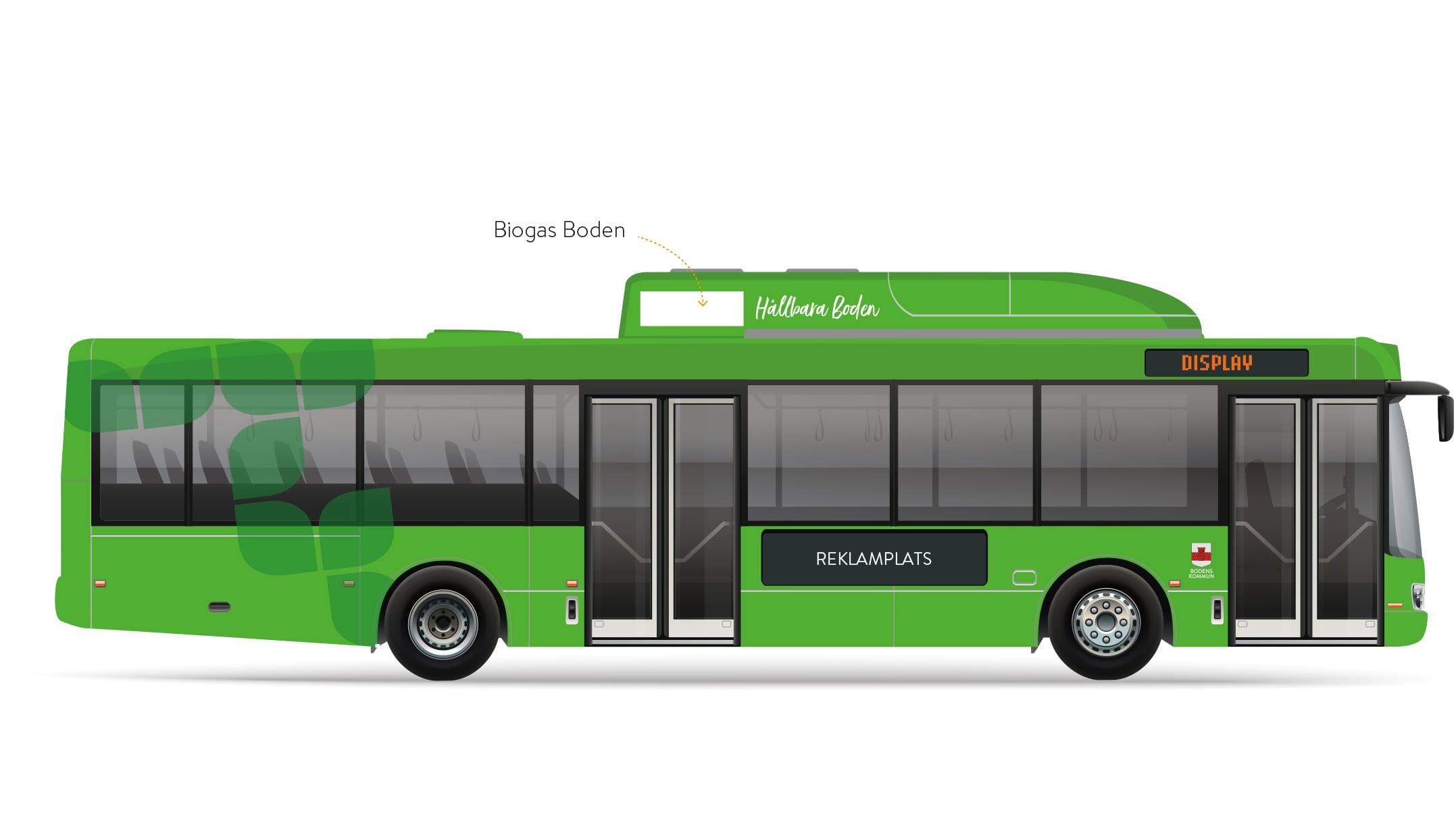 Skiss på nya bussar i Boden