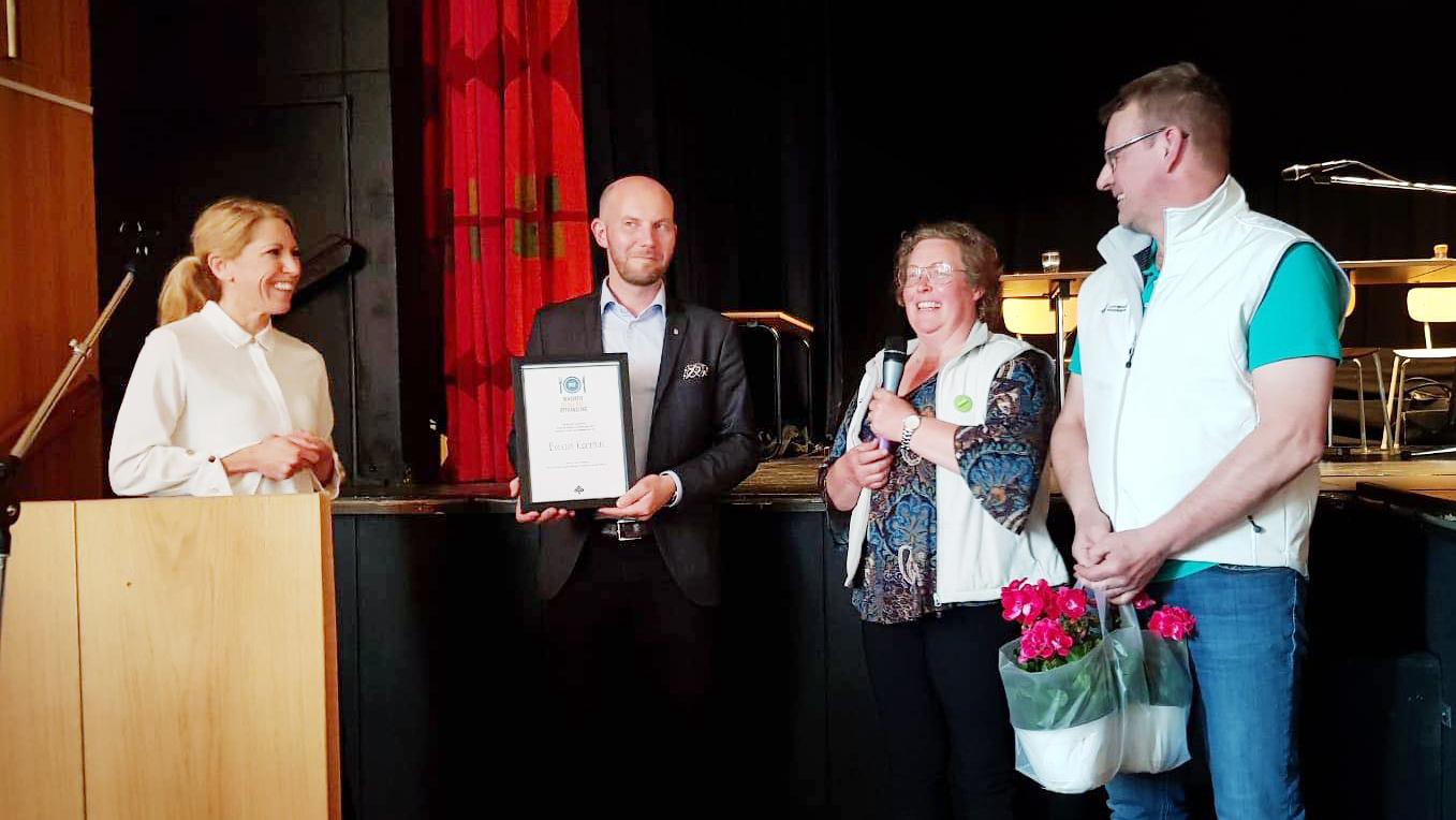 Bodens kommun får pris från LRF Norrbotten för Innovativ upphandling.