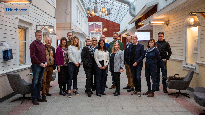 Gruppbild projektgrupp företagsnätverk från Bodens kommun och representanter från Svenskt näringsliv.