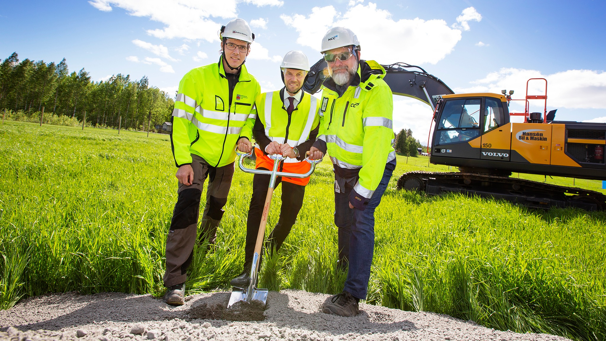 Första spadtaget är taget för NorraÄlvstråket