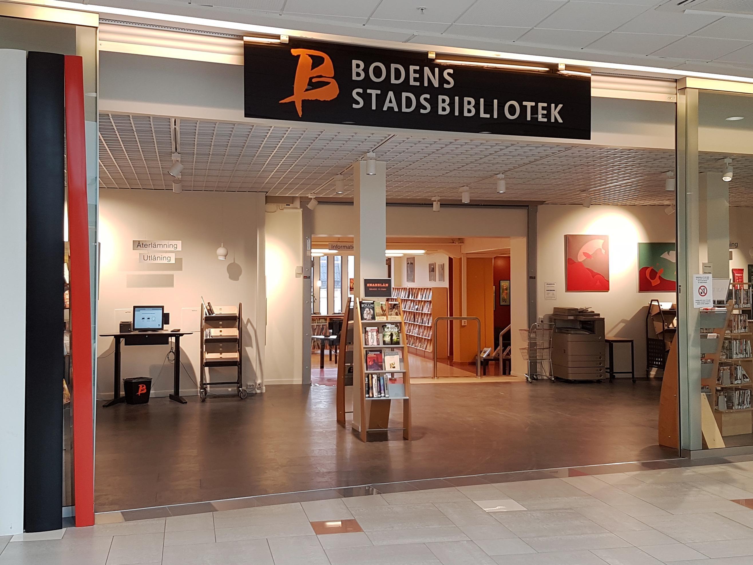 Bodens stadsbibliotek entré