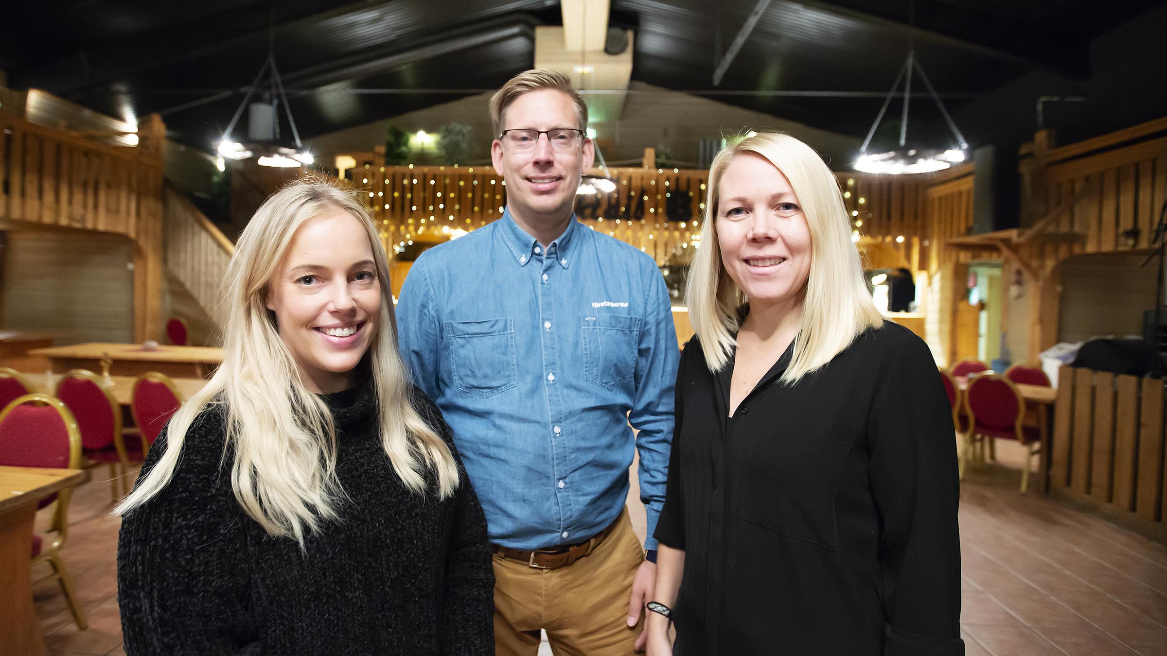 Michaela Strömberg, Rikard Mattsson och Malin Winsa på Western Farm inför Boden Business Day.