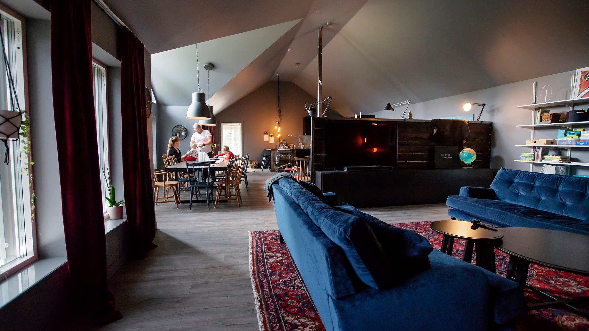 Hemma hos Ann-Sofie Lund och Martin Brännvall i deras nybyggda hus på Bränslan