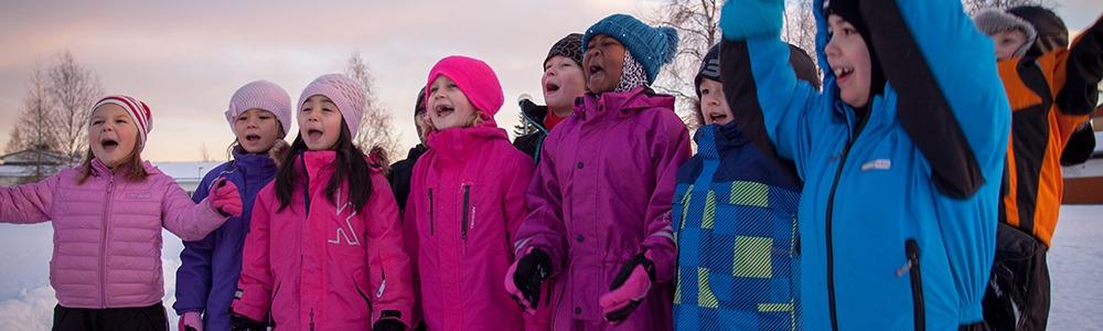 Barn från Strandens förskola