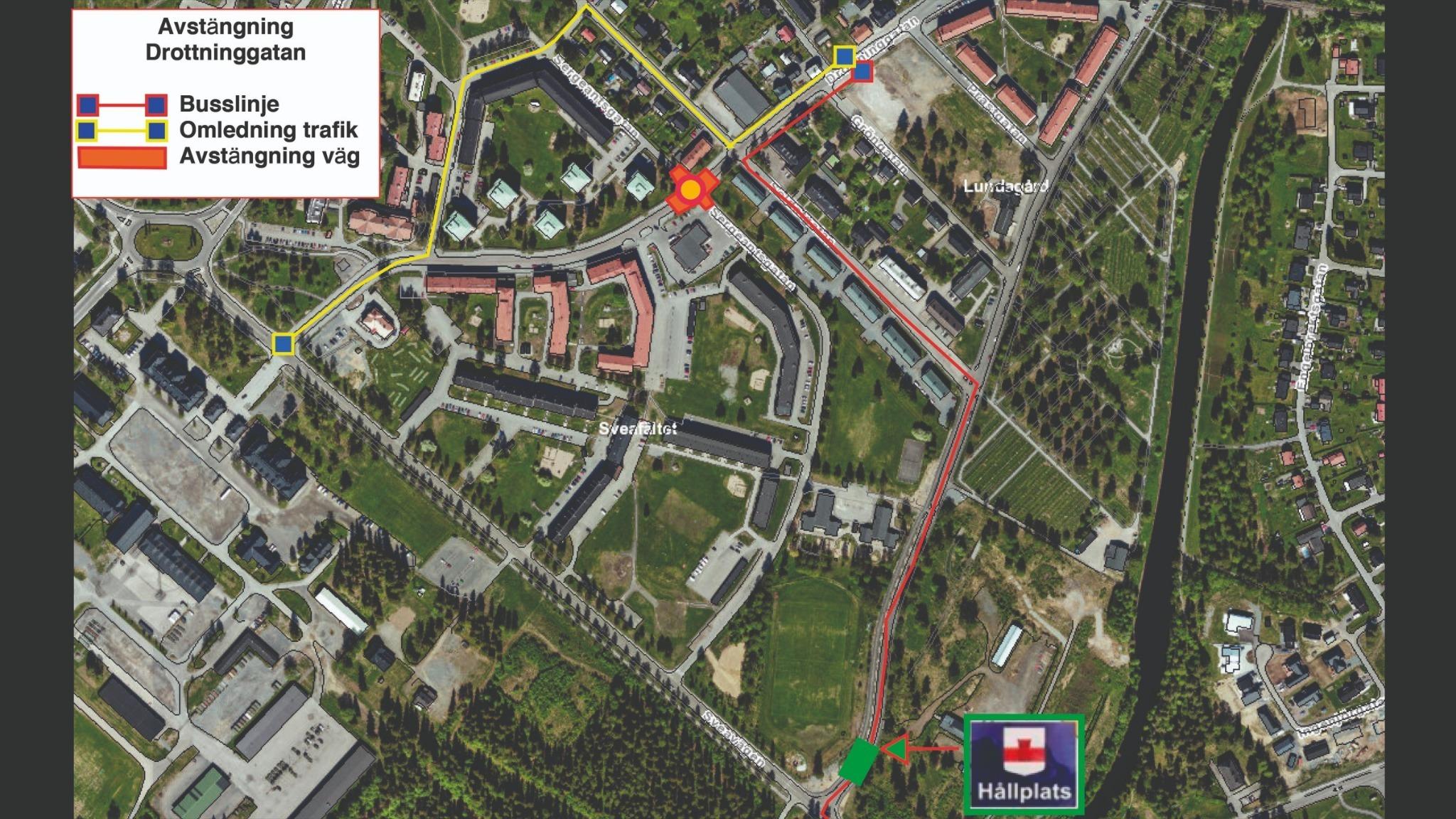 Avvikelse busstrafik - Drottninggatan avstängd från den 9 september