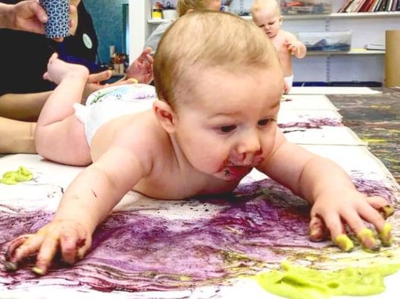Babymåleri på Havremagasinet